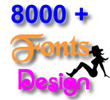 Thumbnail Amazing 8000 + New Fonts Design TTF Format Collection